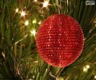 Glanzende Kerstmis bal