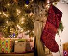 Kerst sok opgehangen