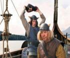 Tjure over te breken een vaas op het hoofd van Snorre