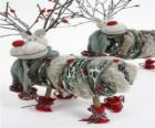 Knap poppen Kerst rendier