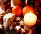 Kerstmis Kaars branden