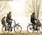 Familie fietsen