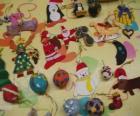 Variety van Kerstmis ornamenten