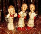 Engelen zingen kerstliederen