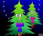 Twee bomen van Kerstmis