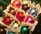 Kerstmis ballen vak
