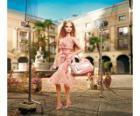 Barbie actrice filmen van een advertentie