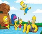 De familie Simpson een zomerse zondag