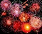 Vuurwerk in de viering van Oudejaarsavond