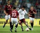 Optreden van een voetbalwedstrijd in het stadion