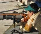 Rifle schutter in actie