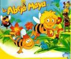 Maya de Bee en haar vriend Willi onder de ogen van Flip en andere tekens