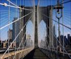 Schorsing brug over de rivier, New York