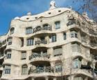 Werken van Antoni Gaudí. La Pedrera of Casa Mila van Gaudi, Barcelona, Spanje.
