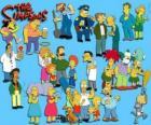 Verschillende personages uit The Simpsons