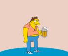 Barney Gumble fervent bezoeker van de Moe's bar
