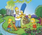De Simpson familie op een picknick dag