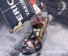 Zeilboot in de Volvo Ocean Race