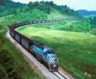 Vracht trein met veel auto's