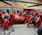 Ferrari pitstop de praktijk, Shanghai 2010