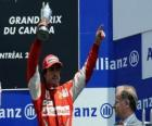 Fernando Alonso - Ferrari - Montreal, 2010 (staat op de 3e)