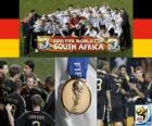 Duitsland, staat op de 3e in het WK voetbal 2010 Zuid-Afrika