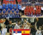 Servië - Spanje, kwartfinales, 2010 FIBA World Turkije