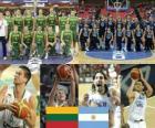 Litouwen - Argentinië, kwartfinales, 2010 FIBA World Turkije