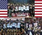 Verenigde Staten Kampioen van de 2010 FIBA World, Turkije