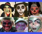 Kinderen make-up voor Halloween