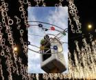 exploitant plaatsen sier kerstverlichting