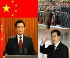Hu Jintao secretaris-generaal van de Chinese Communistische Partij en president van de Volksrepubliek China