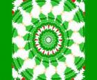 Mandala met kerstversieringen