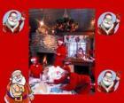 Kerstman lezen van brieven van de kinderen die hij heeft gekregen voor Kerstmis