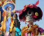 De schedel Catrina, een van de meest populaire Dag van de Doden in Mexico