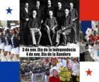 Nationale feestdagen Panama. 3 november Independence Day. 04 november, Dag van de Vlag