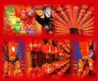 De Lantaarnfeest is het einde van het Chinese Nieuwjaar feesten. Mooie papieren lantaarns