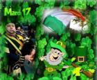 17 maart. Saint Patrick's Day is de viering van de Ierse cultuur. Klavertjes gebruikt als een symbool van Ierland