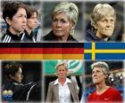 Genomineerd voor FIFA World Coach van het Jaar voor het voetbal vrouwen 2010 (Maren Meinert, Silvia Neid, Pia Sundhage)