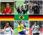 Genomineerd voor FIFA Women's World Player of the Year 2010 (Fatmire Bajramaj, Marta Vieira da Silva, Birgit Prinz)
