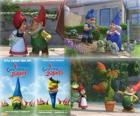 Verschillende foto's van Gnomeo en Juliet