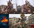 - De jager gejaagd - winnaar van de Fallas 2011. De Fallas-festival wordt gevierd van 15 tot 19 maart in Valencia, Spanje.