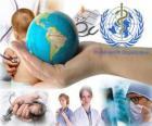 De Dag van de Gezondheid van de wereld, ter herdenking van de oprichting van de WHO over 07 april 1948