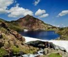 De Carlit is de hoogste piek van het Franse departement Pyrenees-Orientales