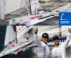 De Mapfre tweede in de Barcelona World Race 2010-11