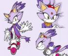 Blaze the Cat, een prinses en een van de vrienden van Sonic
