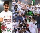 AC Milan, de Italiaanse voetbalbond League kampioen - Lega Calcio 2010-11