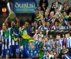 FC Porto, de kampioen van de UEFA Europa League 2010-2011