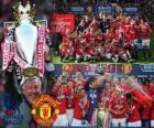 Manchester United, de kampioen van het Engels voetbal competitie. Premier League 2010-2011