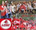 LOSC Lille, kampioen van de Franse voetbalcompetitie, de Franse Ligue 1 2010-2011
